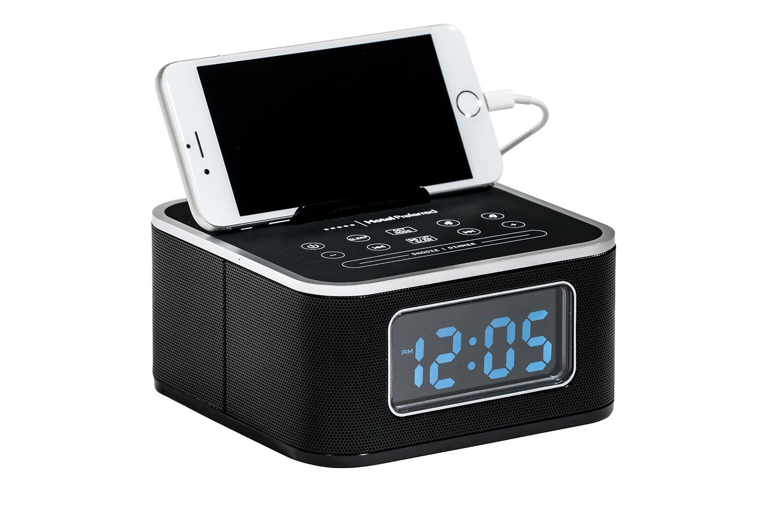 Electronics & Appliances - HPCLKR02 Alarm Clock With Charging Station