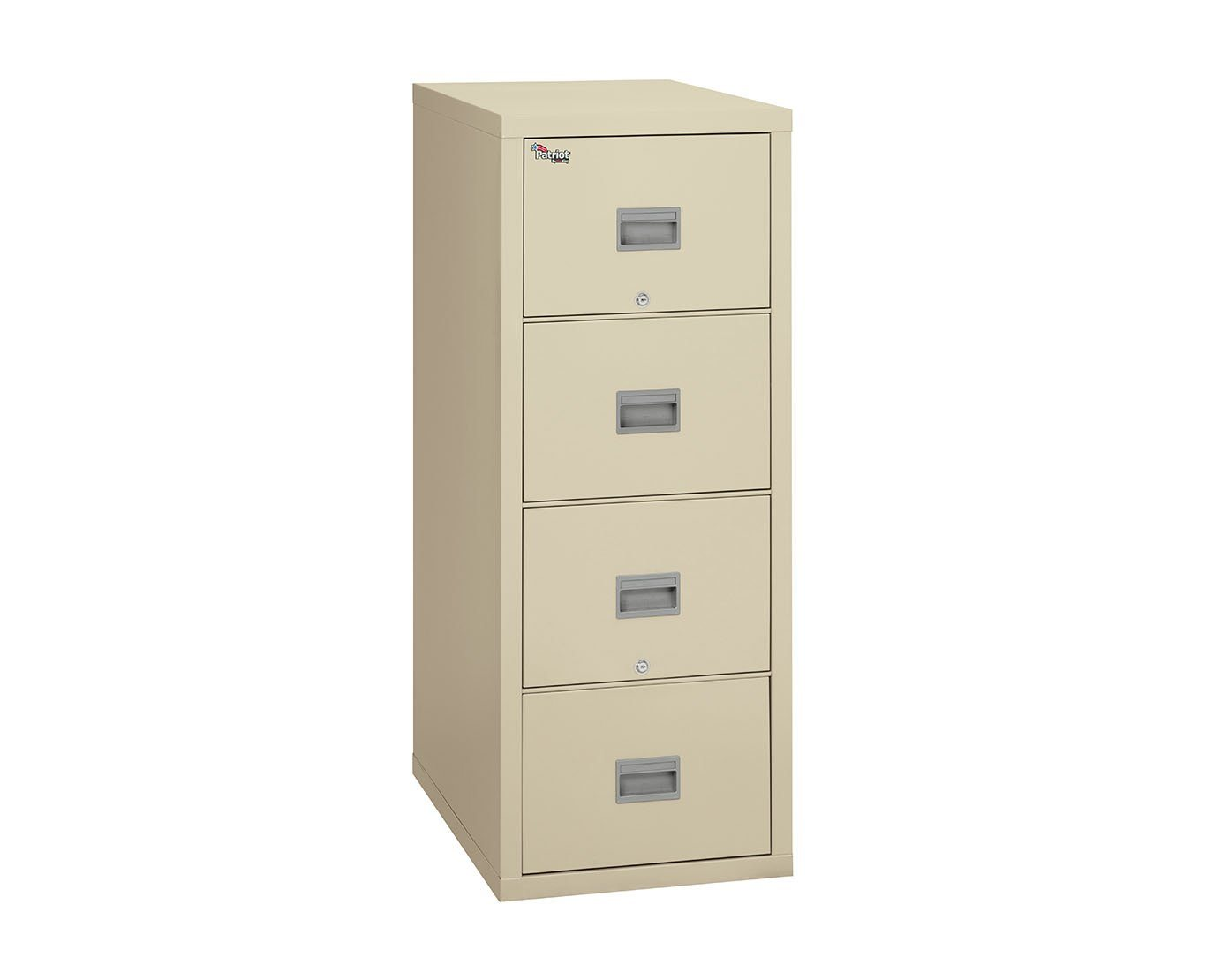 Fire File Cabinets - FireKing 4P1831-C 4 Drawer Patriot Vertical File Cabinet (Letter)