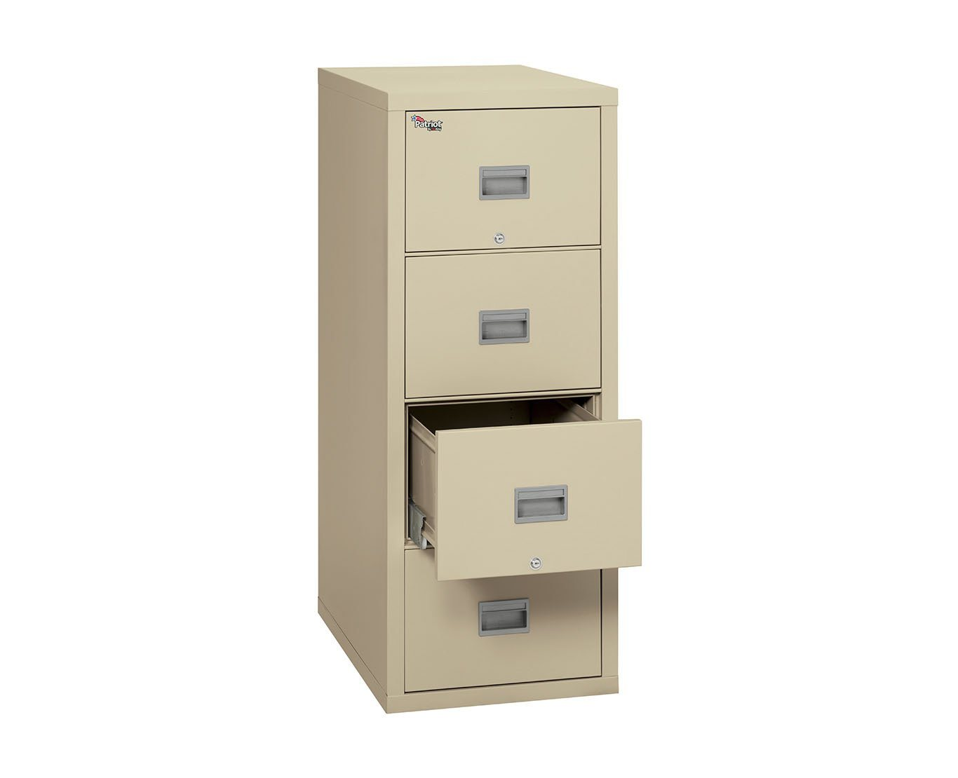 Fire File Cabinets - FireKing 4P2131-C 4 Drawer Patriot Vertical File Cabinet (Legal)