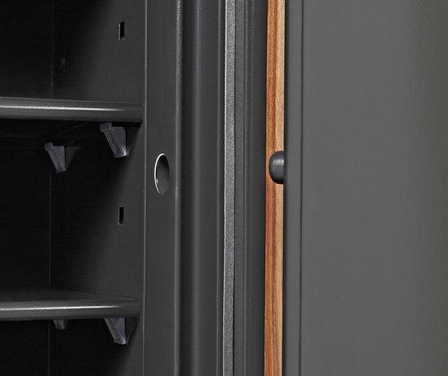 Fire Rated - Phoenix DBAUM 800 Luxury Safe With Genuine Walnut Exterior Door Front