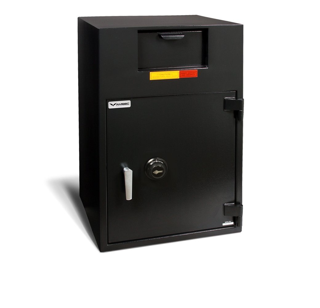Front Loading Deposit Safes - AMSEC BWB3025FLNL Wide Body Deposit Safe With No Locker