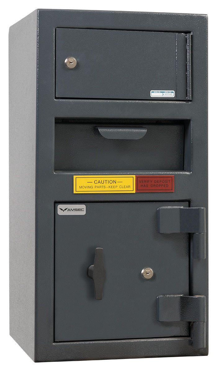 AMSEC DSC2014KK Front Loading Deposit Safe With Top Locker with Key Locks