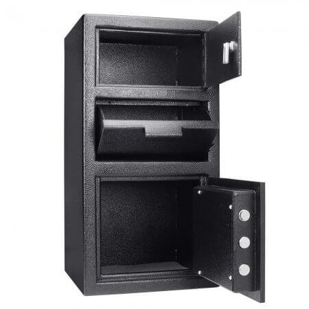 Front Loading Deposit Safes - Barska AX13310 Front Loading Depository Safe With Top Locker
