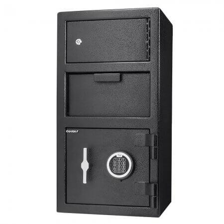 Front Loading Deposit Safes - Barska AX13310 Front Loading Depository Safe With Top Locker - Refurbished