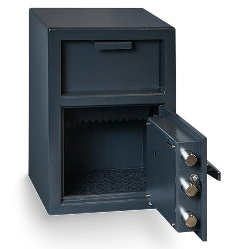 Front Loading Deposit Safes - Hollon FD-2014K Front Load Depository Safe With Key Lock