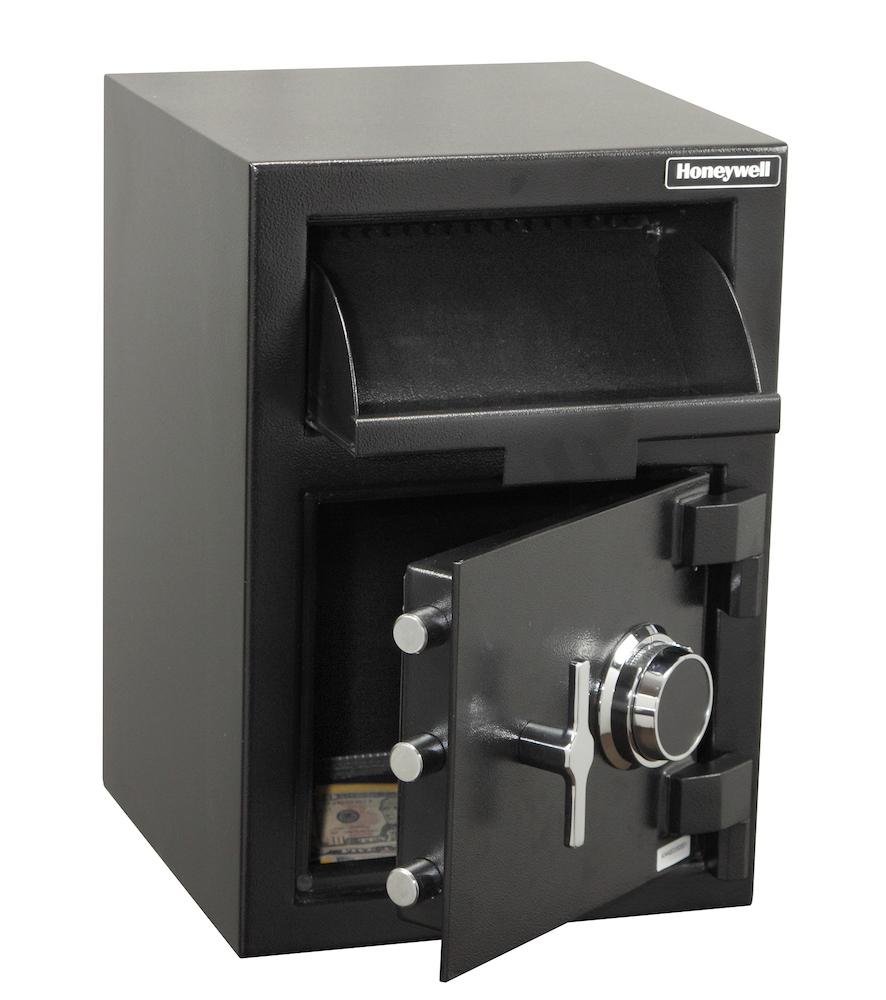 Front Loading Deposit Safes - Honeywell 5911 Front Loading Depository Safe With Combination Lock