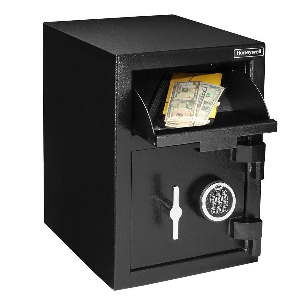 Front Loading Deposit Safes - Honeywell 5912 Medium Steel Depository Safe With Digital Lock