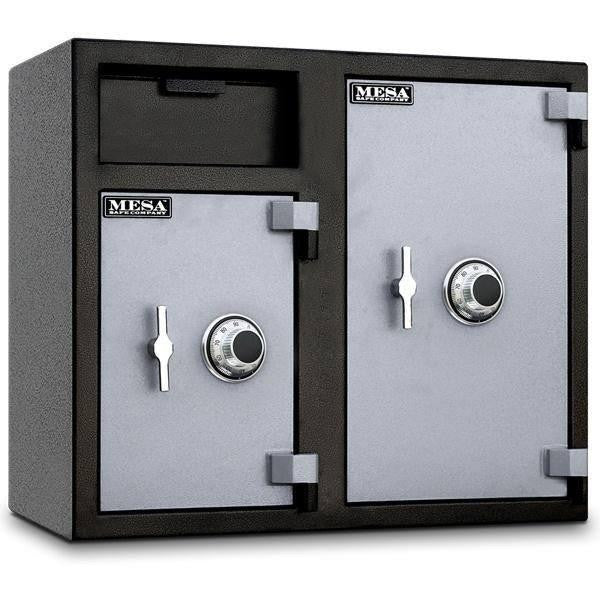 Front Loading Deposit Safes - Mesa MFL2731CC Dual Chamber Depository Safe