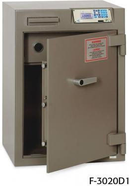 Front Loading Deposit Safes - OLD STOCK Bridgeman F-3020D1 Cash Management Safe With Safe Wizard Lock