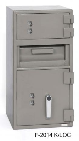Front Loading Deposit Safes - SafeandVaultStore F-2014K/LOC Depository Safe With Locker