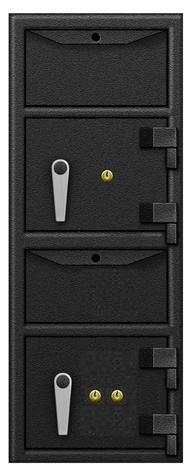 Front Loading Deposit Safes - SafeandVaultStore FLH361420DDKK Double Drop Depository Safe With Key Locks