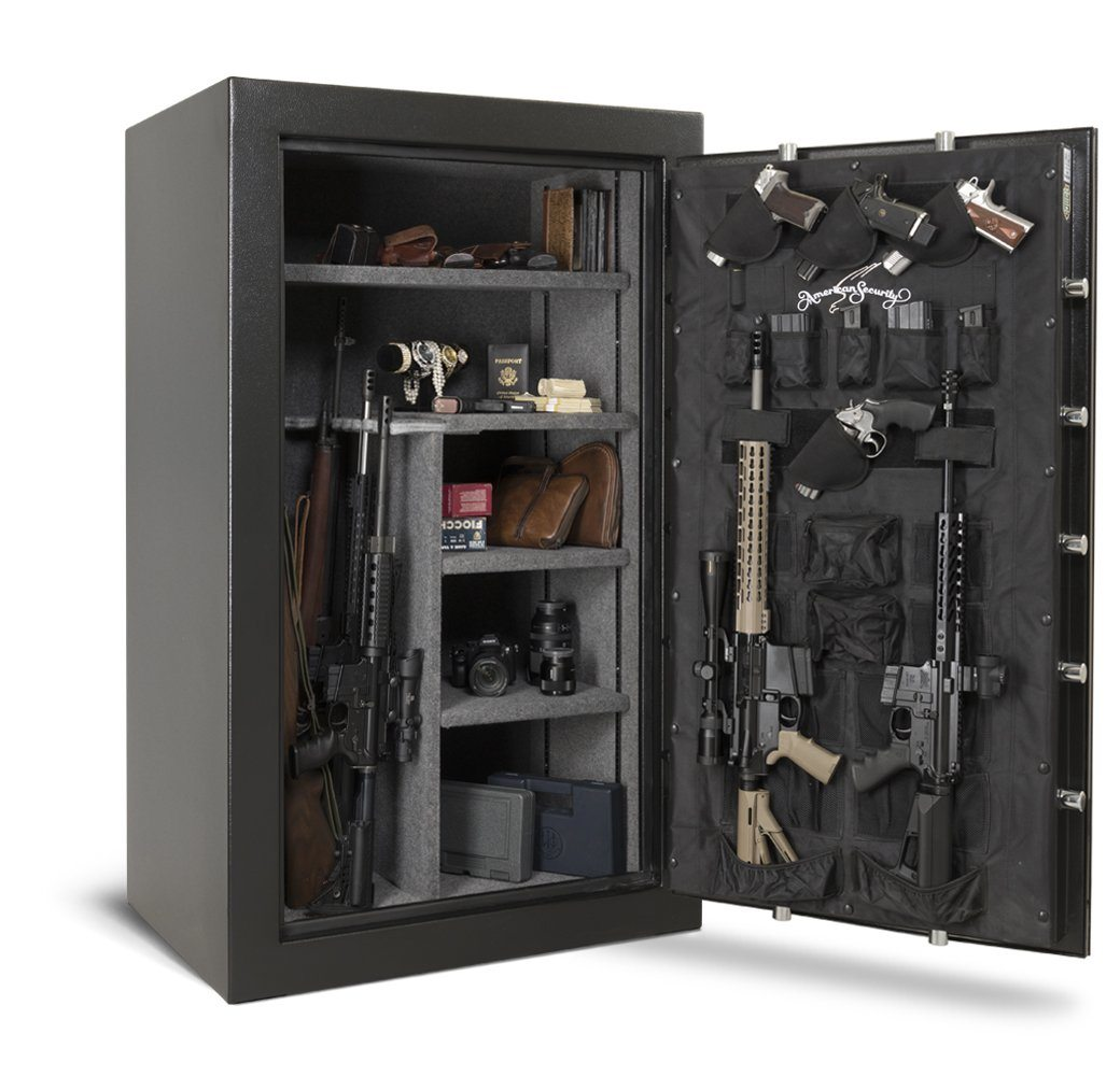 AMSEC FV6036E5 Rifle & Gun Safe - Door Open Full