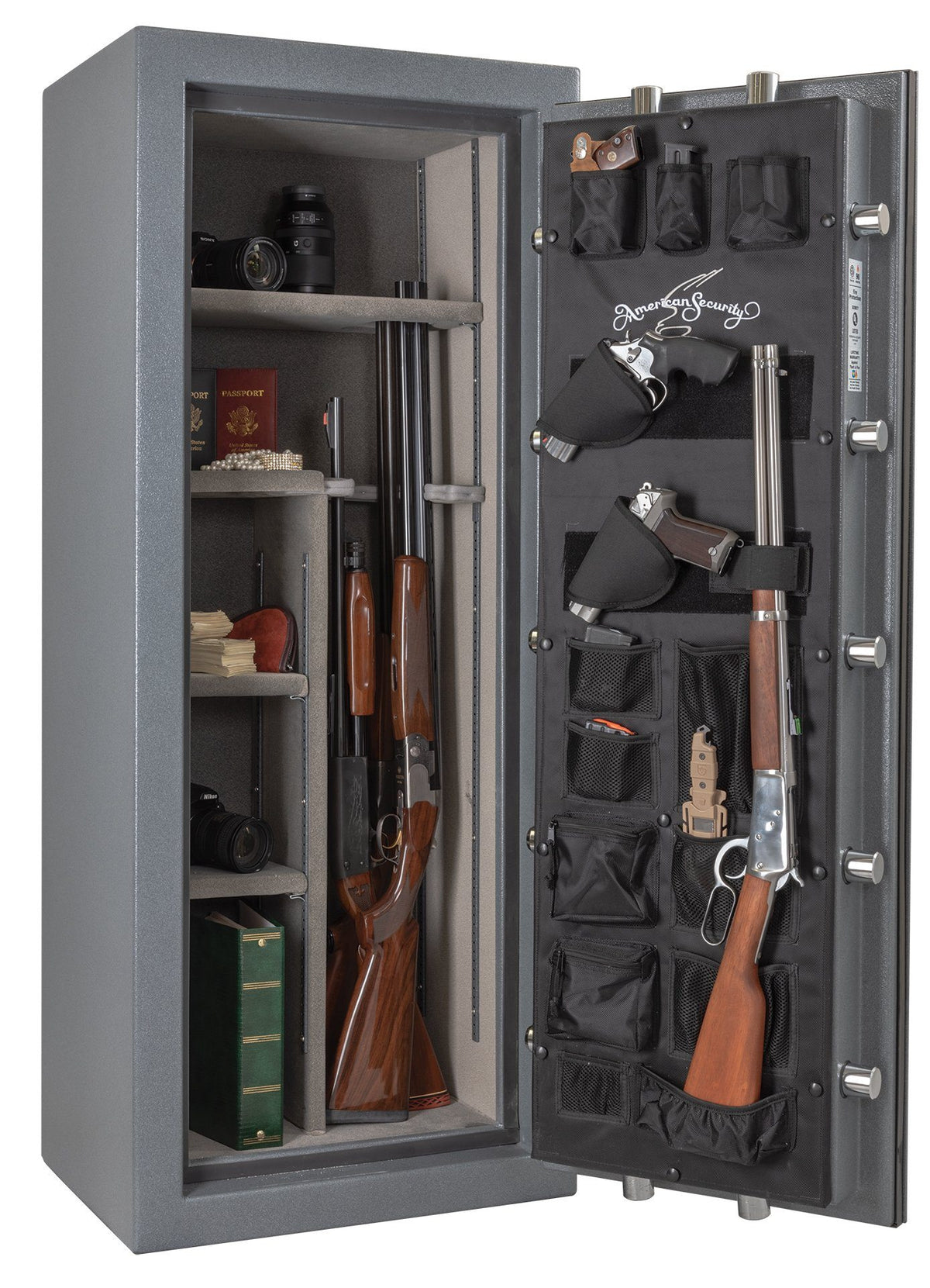 AMSEC NF5924E5 Rifle & Gun Safe with ESL5 Electronic Lock - Door Open Full