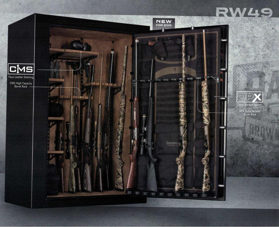 Browning RW49 Rawhide Wide Gun Safe Door Open 2