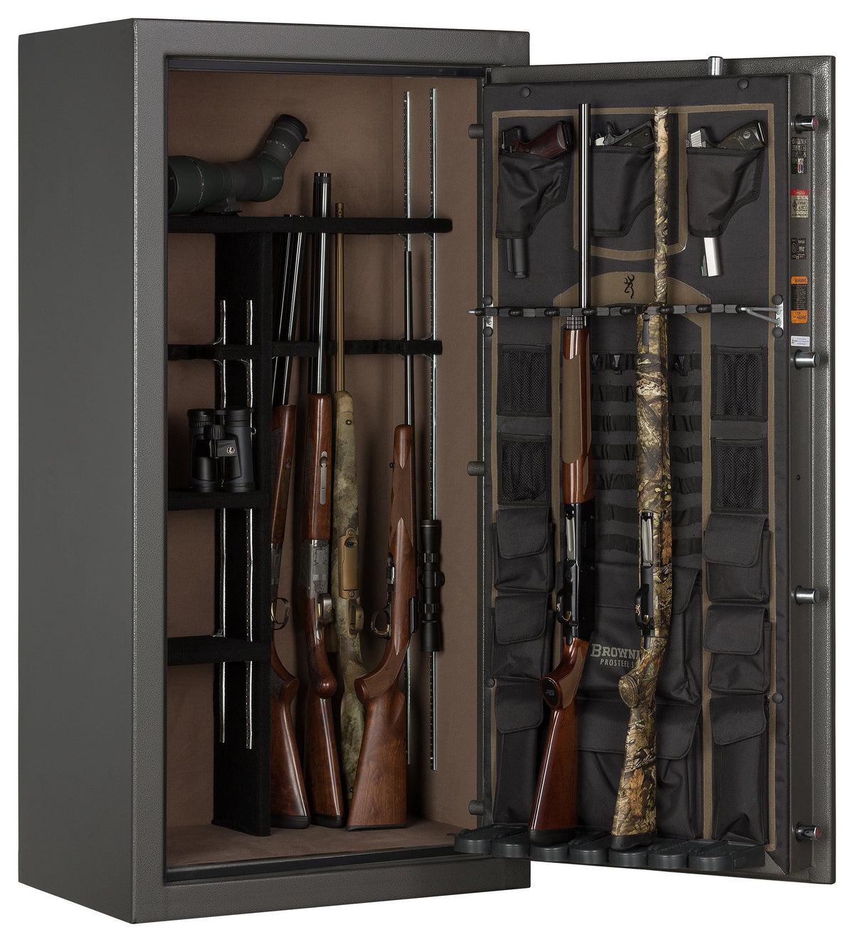 Gun Safes & Rifle Safe Products - Browning SP23 Core Collection Sporter Gun Safe Hammer Gloss Gray - 2021 Model