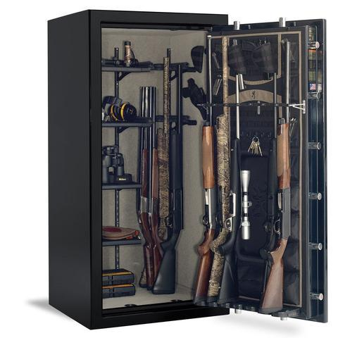 Gun Safes & Rifle Safe Products - Browning SR33 Silver Series Gun Safe - Black Gloss