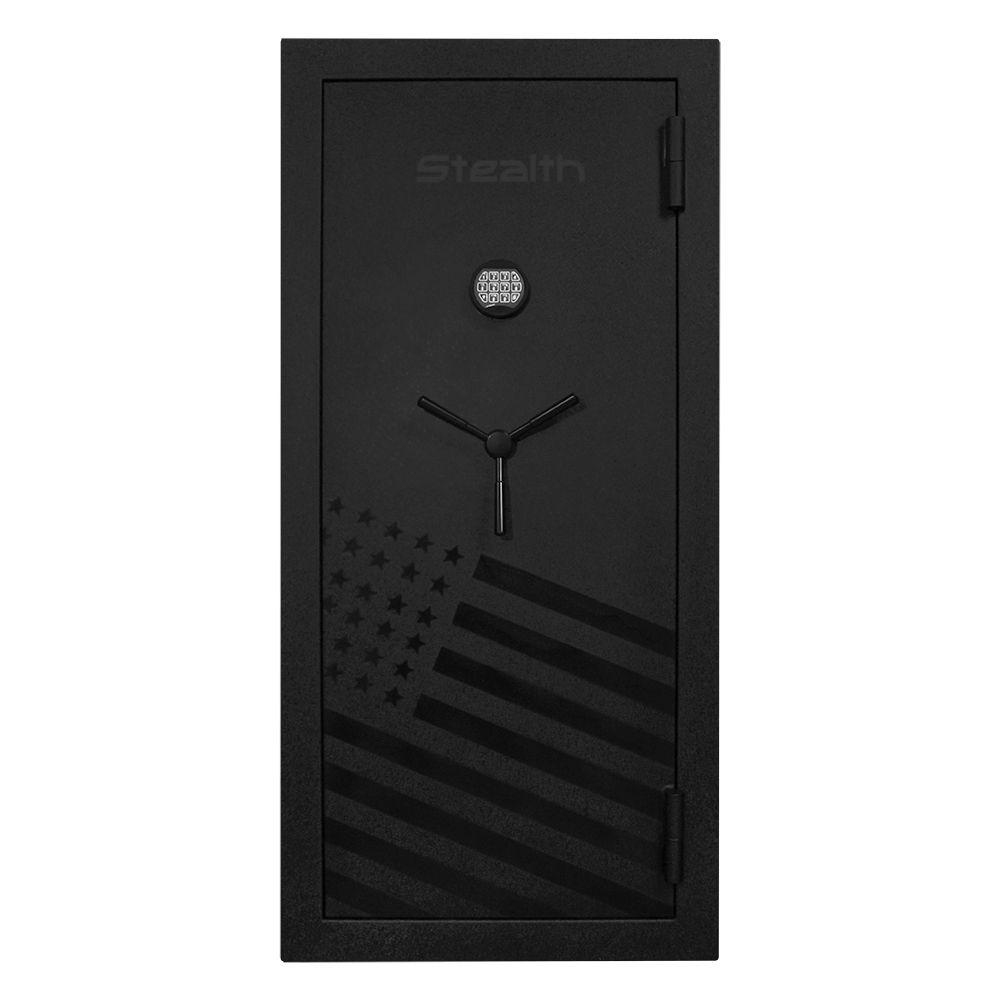 Gun Safes & Rifle Safe Products - Stealth EGS28 Essential Gun Safe - 28 Gun Capacity American Flag