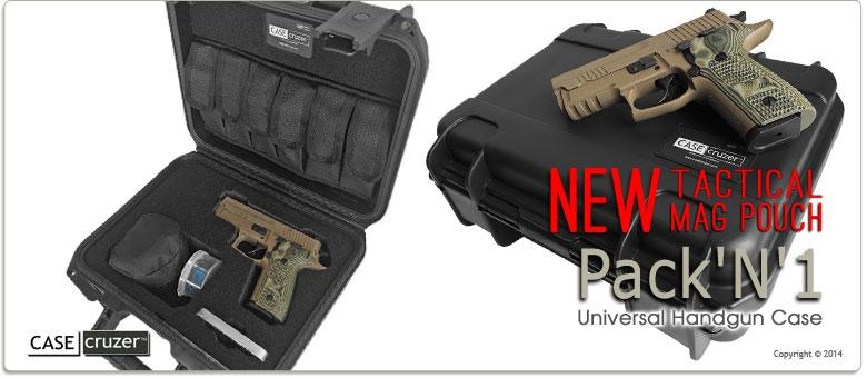 Handgun And Pistol Safes - Case Cruzer Pack'N'1 Universal Handgun Case Single
