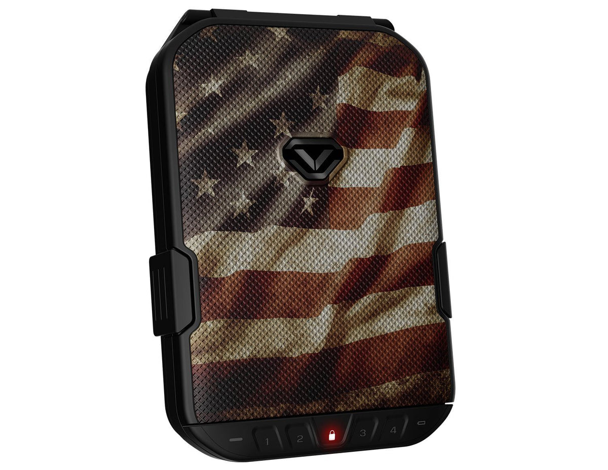 Limited Edition - Vaultek Lifepod Weather Resistant Safe with Build-in Lock - American Flag