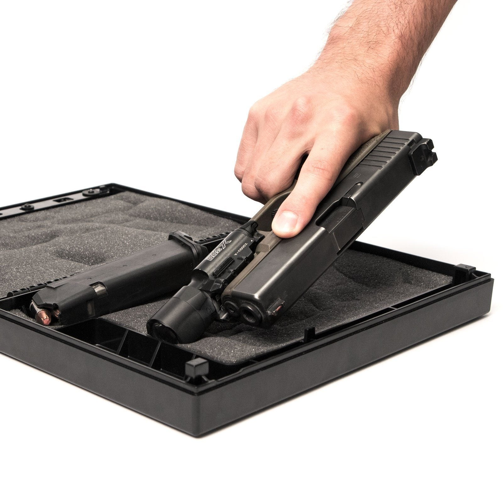 Handgun And Pistol Safes - Stopbox Portable Instant-Access Pistol Box