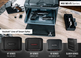 Handgun And Pistol Safes - Vaultek MXi-WiFi Large Capacity Rugged WiFi Smart Safe With Biometric Lock