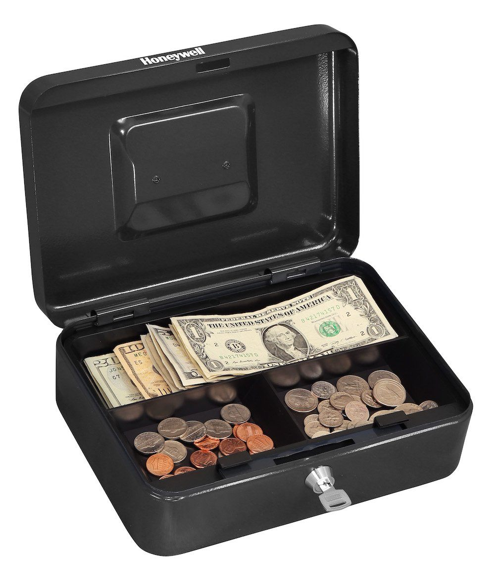Honeywell 6202 Key Locking Steel Cash Box With Removable Tray