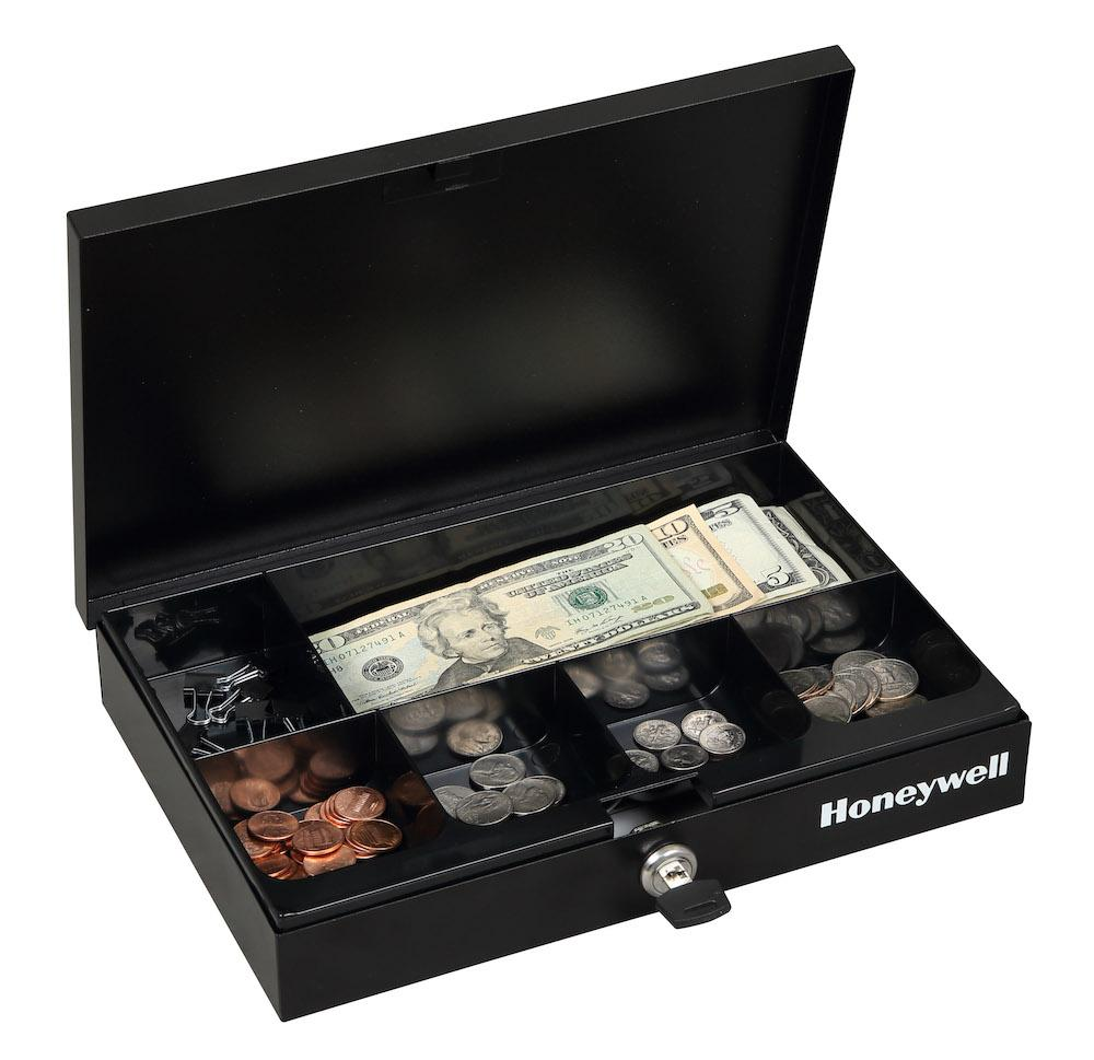 Honeywell 6212 Low Profile Steel Cash Box With Key Lock