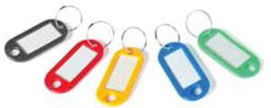 Honeywell 6220 Pack Of 20 Plastic Key Tags In Assorted Colors