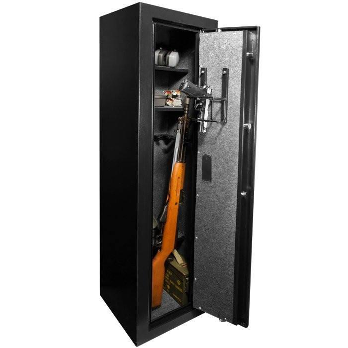 Barska AX12752 Large Quick Access Biometric Rifle Safe - Door Open Full
