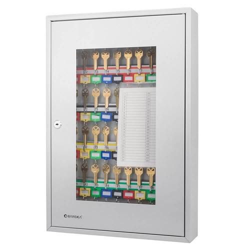 Key Cabinets - Barska CB12950 50 Position Key Cabinet Gray With Glass Door
