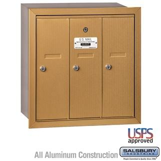 Mailboxes - Salsbury 4B Vertical Mailbox - 3 Doors - Recessed Mounted - USPS Access