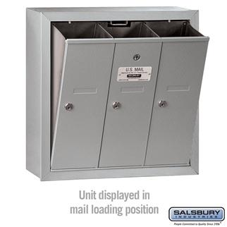 Mailboxes - Salsbury 4B Vertical Mailbox - 3 Doors - Surface Mounted - USPS Access