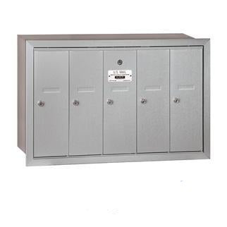 Mailboxes - Salsbury 4B Vertical Mailbox - 5 Doors - Recessed Mounted - USPS Access