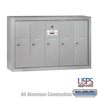 Mailboxes - Salsbury 4B Vertical Mailbox - 5 Doors - Surface Mounted - USPS Access