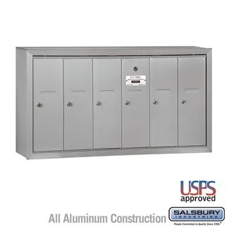 Mailboxes - Salsbury 4B Vertical Mailbox - 6 Doors - Surface Mounted - USPS Access