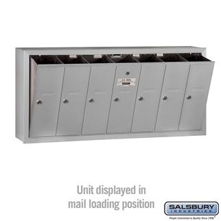 Mailboxes - Salsbury 4B Vertical Mailbox - 7 Doors - Surface Mounted - USPS Access