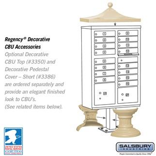 Mailboxes - Salsbury Cluster Box Unit (Includes Pedestal) - 16 A Size Doors - Type III - USPS Access