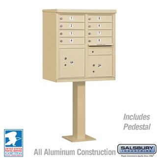 Mailboxes - Salsbury Cluster Box Unit (Includes Pedestal) - 8 A Size Doors - Type I - USPS Access