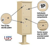 Mailboxes - Salsbury Outdoor Parcel Locker (Includes Pedestal) - USPS Access