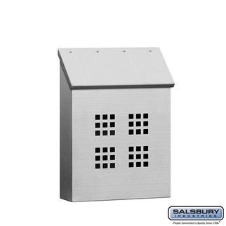 Mailboxes - Salsbury Stainless Steel Mailbox - Decorative - Vertical Style