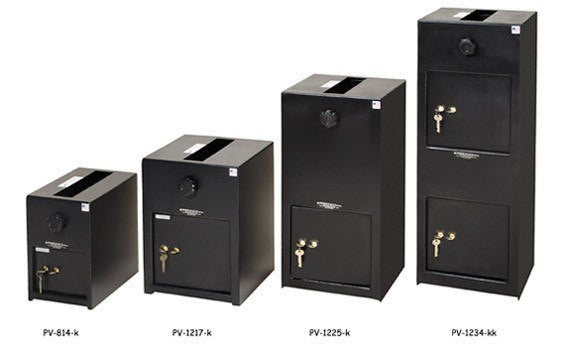 Perma-Vault PV-814-K Rotary Depository Safe with Dual Key Lock