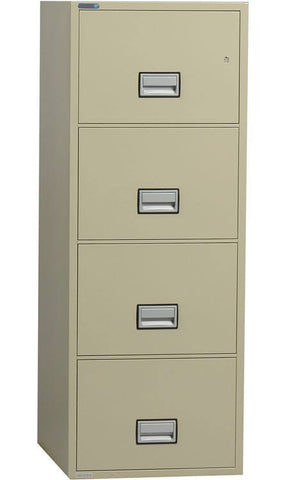 "Phoenix Safe LGL4W25 25"" 4 Drawer Legal Size Fire File Cabinet"