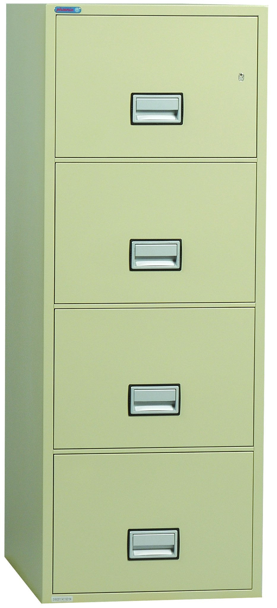 "Phoenix Safe LGL4W31 31"" 4 Drawer Legal Size Fire File Cabinet"