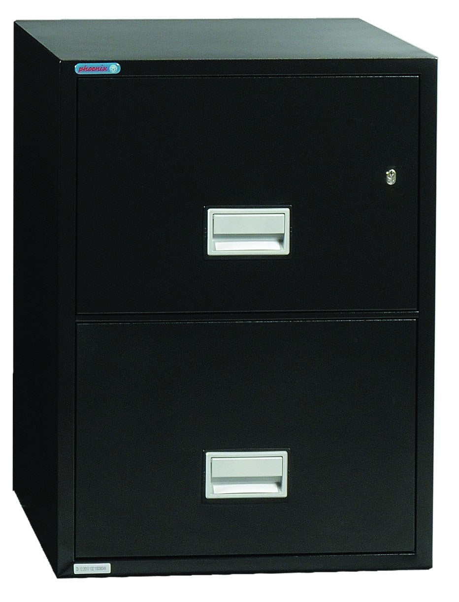 "Phoenix Safe LTR2W25 25"" 2 Drawer Letter Vertical Fire File Cabinet"