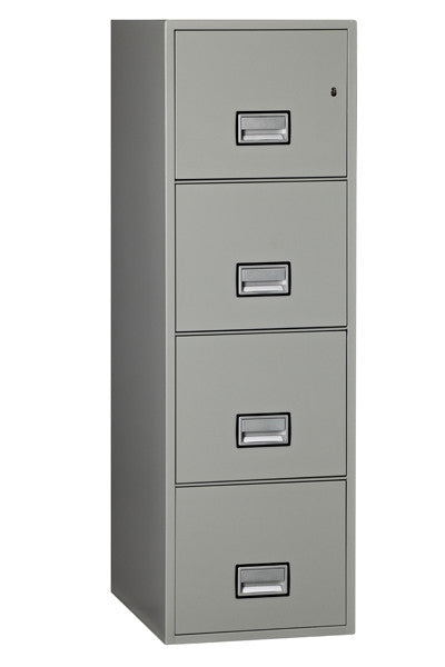"Phoenix Safe LTR4W25 25"" 4 Drawer Letter Vertical Fire File Cabinet"