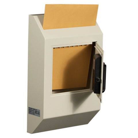 protex wdb 110e letter size wall drop box with electronic lock