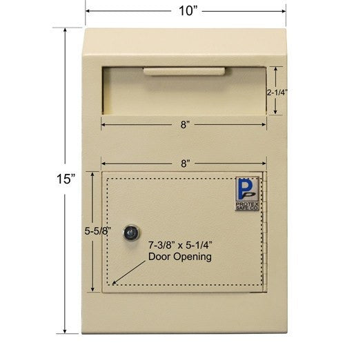 Protex WDS-150 Wall-Mount Locking Payment Drop Box