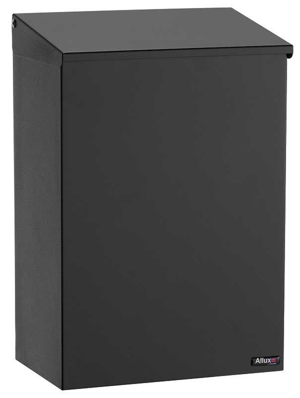 Qualarc ALX-100-BK Top Loading Wall Mount Mailbox - Black