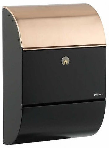 Qualarc ALX-3000-BC Allux 3000 Locking Mailbox - Black with Copper