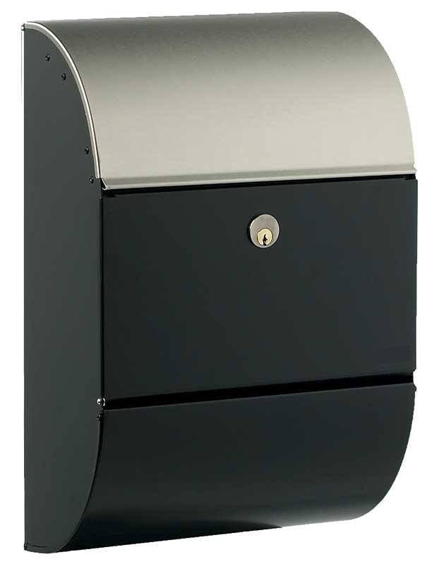Qualarc ALX-3000-BS Allux 3000 Locking Mailbox - Black with Steel